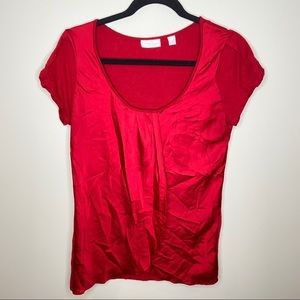 New York and Co women's red blouse Sz medium